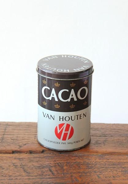 Oud cacao blik