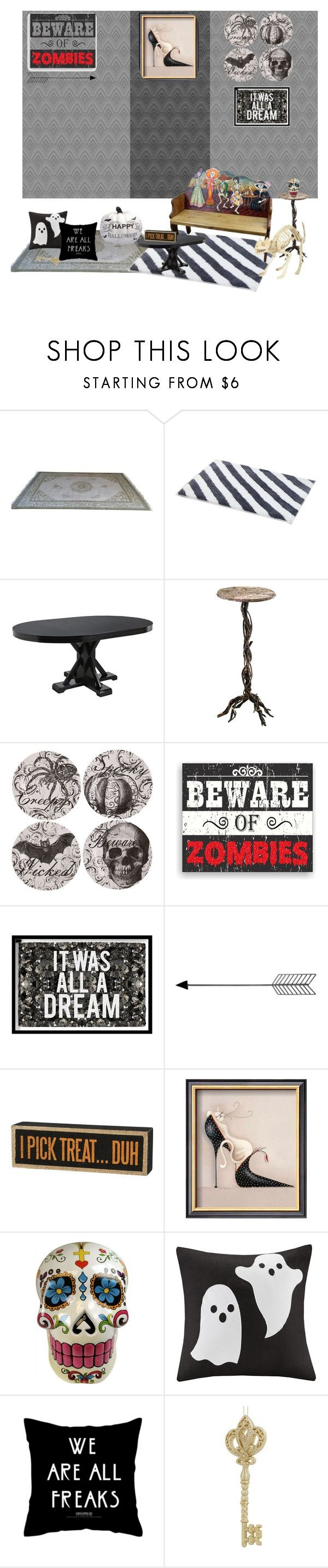"""""""Halloween Theme Decor"""" by freisstea on Polyvore featuring interior, interiors, interior design, home, home decor, interior decorating, Pier 1 Imports, Cyan Design, Sixtrees and Oliver Gal Artist Co."""