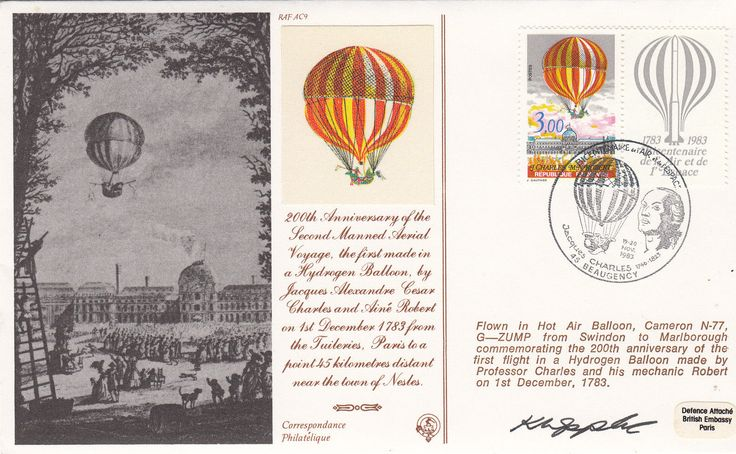 AC9 200 Ann 2nd Manned aerial balloon signed Appleby RAF cover | eBay
