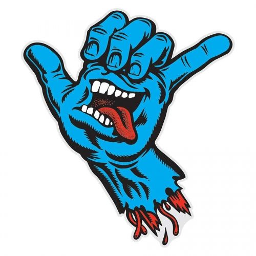 "Santa Cruz Skateboards Santa Cruz Shaka Hand Sticker 3""x3.5"" Sticker"