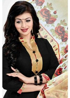 Black Cotton Patiala Salwar Kameez, - Rs. 1,128.00, #OnlineSuit #NewDresses #BollywoodFashion #Shopkund