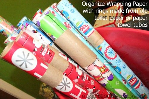 How To Organize Wrapping Paper...http://homestead-and-survival.com/how-to-organize-wrapping-paper/