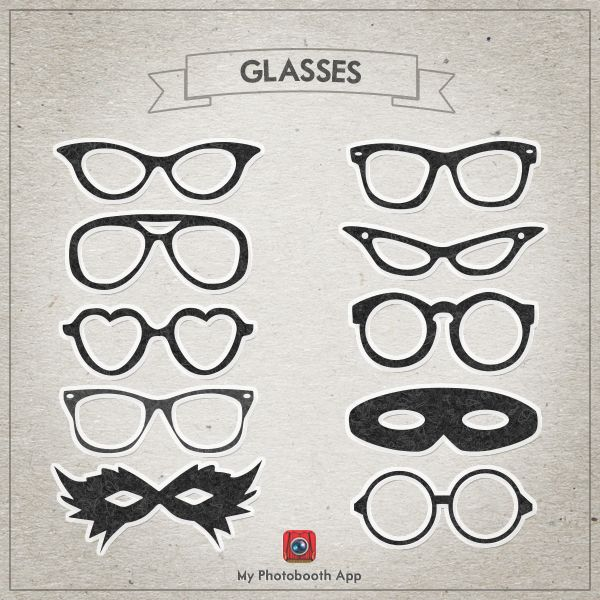 Photo Booth Glasses Printables - FREE DOWNLOAD by MyPhotoboothApp on deviantART