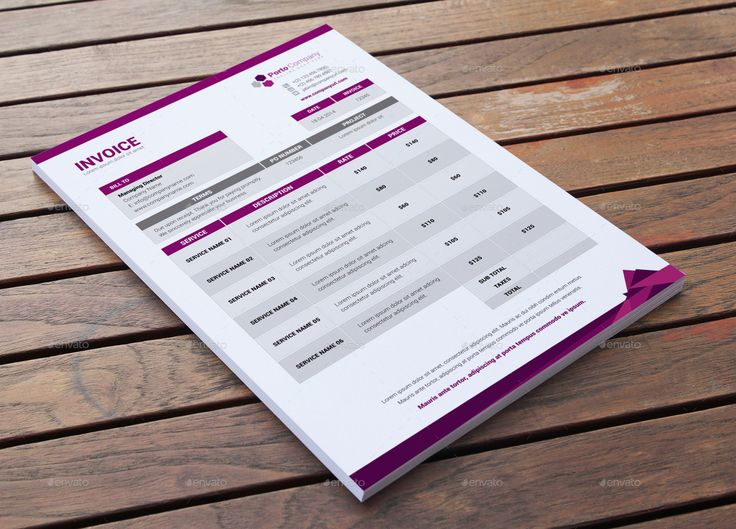 Stationary & Invoice Design Template v5 by Jbn-Comilla   GraphicRiver