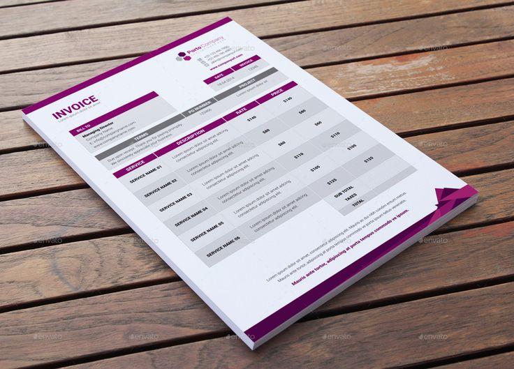 Stationary & Invoice Design Template v5 by Jbn-Comilla | GraphicRiver