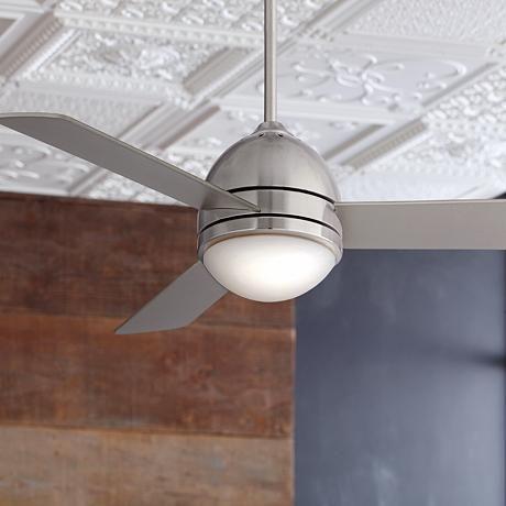 "44"" Casa Vieja Trifecta Brushed Nickel Ceiling Fan - #R5139 | LampsPlus.com"