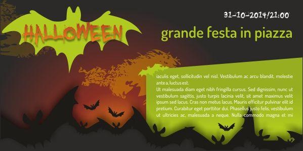 layout grafico da acquistare online per la stampa di flyers per l'evento di halloween