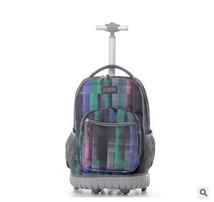 TILAMI Children Trolley School Bags kids Trolley Backpack 18 inch Travel Luggage Backpack with Wheels Rolling Backpack For Girls