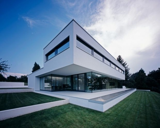 Contemporary Home Exterior 620x496 Contemporary & Minimal Home in Waldenburg, Germany