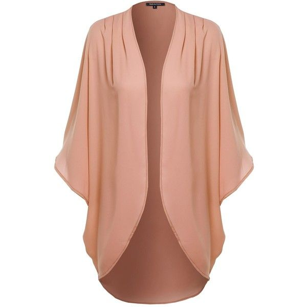 MBE Women's Flowy Sheer Loose Chiffon Kimono Cardigan Blouse Top Solid ($15) ❤ liked on Polyvore featuring tops, blouses, red sheer blouse, see through tops, chiffon tops, see through blouse and sheer blouse