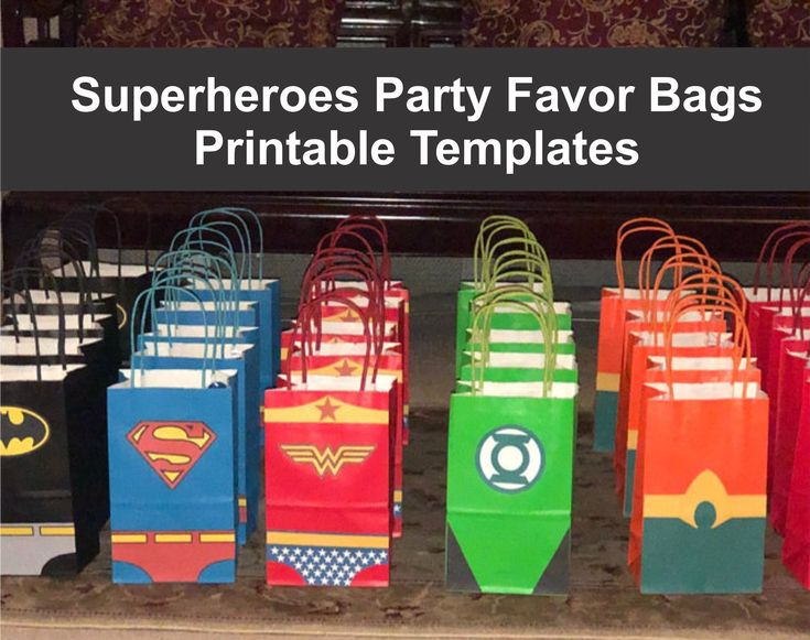 Superheroes Party Ideas – Favors – Goodie Bags