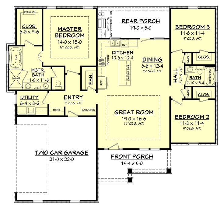 Inspiration House Plans Bungalow Open Concept: 25+ Best Ideas About Simple House Plans On Pinterest