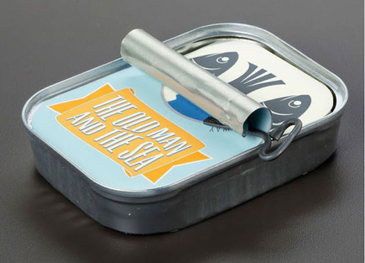 A Hemingway novel cleverly packaged inside a can of sardines