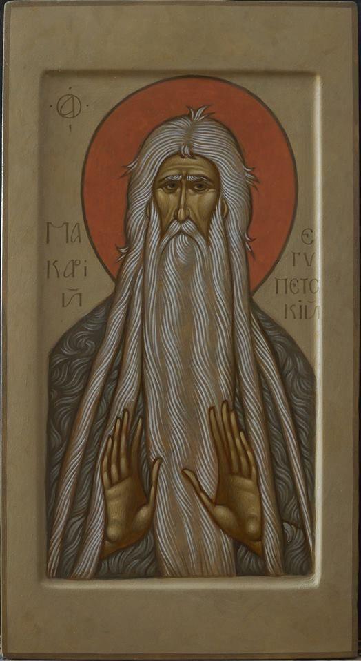 St Makarius of Egypt by Maxim Sheshukov