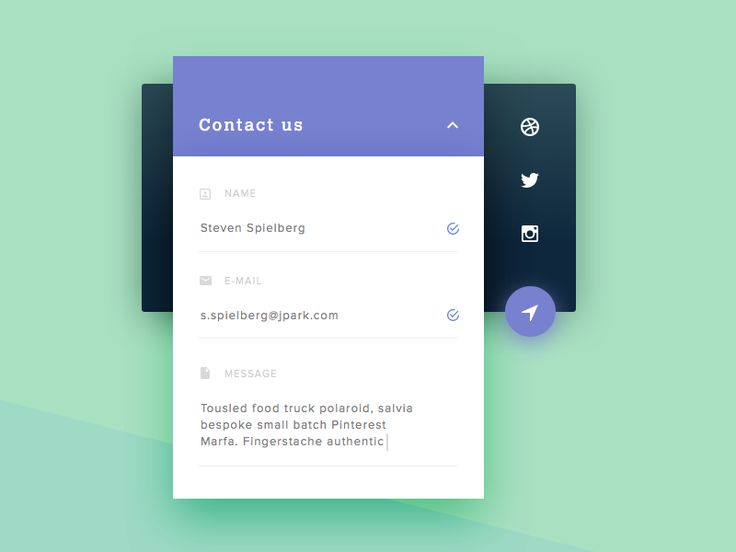 Dribbble - Day 28 - Contact Us by Carl Hauser