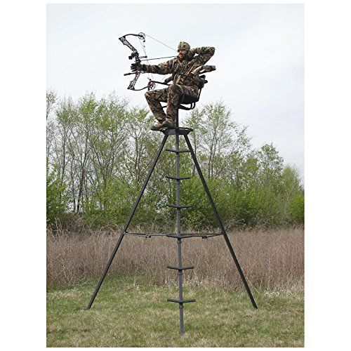 Sniper Sentinel 13' Swivel Tripod Deer Stand   https://huntinggearsuperstore.com/product/sniper-sentinel-13-swivel-tripod-deer-stand/