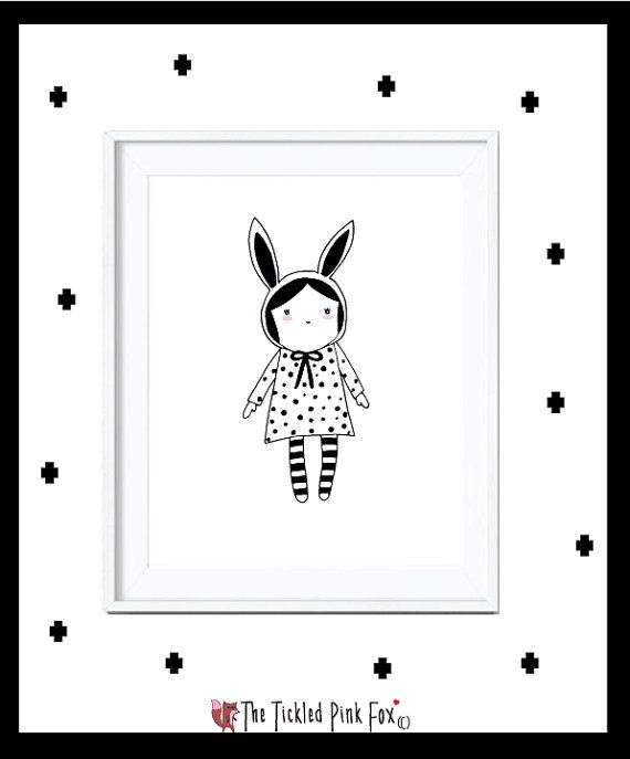 Lulu little girl poster with rabbit ears by thetickledpinkfox