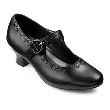 Black Flapper Style Shoes