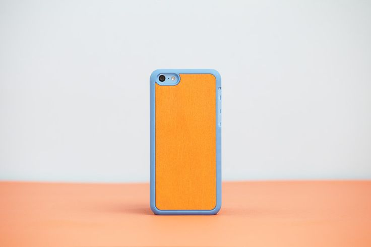 Cover iPhone 5c Blue - Orange Bolivar // Wood'd #woodd