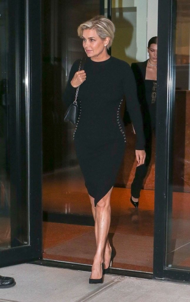 Yolanda Foster Form-Fitting Dress - Yolanda Foster was spotted out in New York City wearing a figure-hugging LBD.