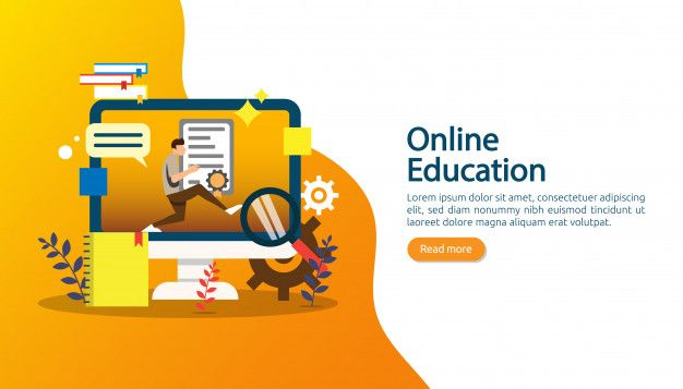 E Learning E Book Or Online Education Concept For Banner Online Education Elearning Education