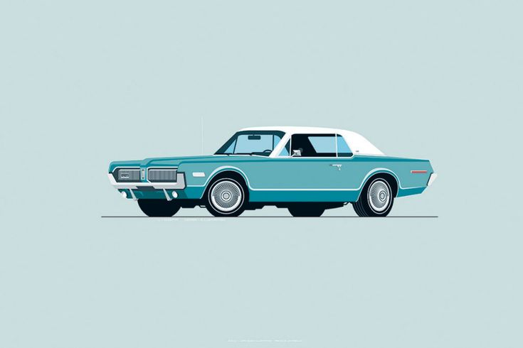 Ex-Industrial-Designer's Hyper-Clean Vintage Car Illustrations