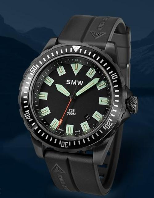 SMW professional divers    If you want a solid reliable diver with Swiss standards of quality and workmanship, but without the ocean going yacht price tags of some of the high-end brands, you could look to Swiss Military Watches or SMW for short.