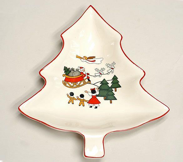 kerst servies - Google zoeken. Christmas village(Mason) christmas tree dish.
