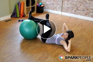 Dust off your stability ball and try this great workout! @Coach Nicole leads 9 exercises to strengthen and stretch all of your major muscle groups in just 15 minutes!   via @SparkPeople #fitness #exercise #video