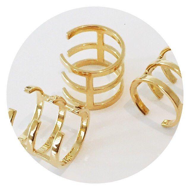 • CAPTIVITY RINGS • GOLD • www.accessoriesbyg.com  #accessoriesbyg #gold #jewelery #accessories #shop