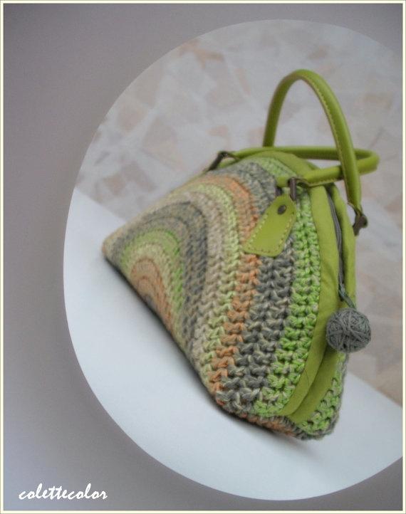 Luna Verde unique color and round clutch bag from by colettecolor, $85.00