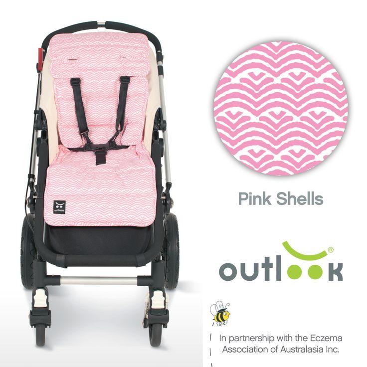 Outlook Cotton Pram Liner Pink Shells