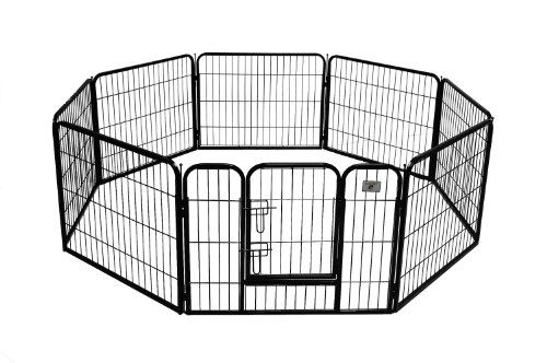 BestPet Heavy Duty Pet Playpen Dog Cat Fence B Exercise Pen 24Inch Black -- Click on the image for additional details.