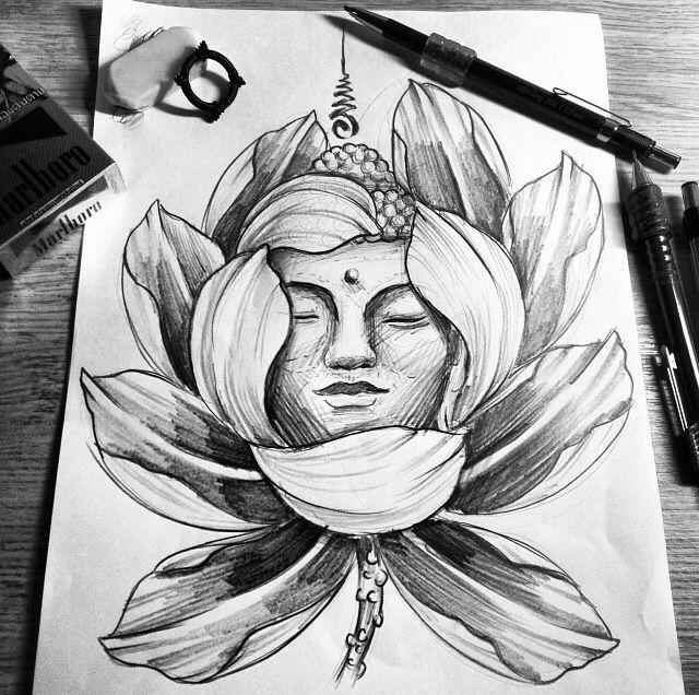 Buddha in a lotus