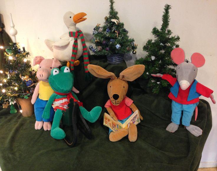 Kikker en kerst thematafel.