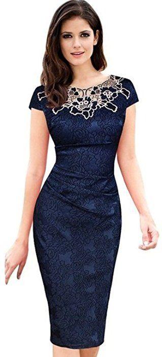 1d56665876 Vestidos Ropa De Moda Para Mujer Sexys Cortos Largos Negros De Noche  Casuales y Elegantes VE0073 (M) at Amazon Women's Clothing store: