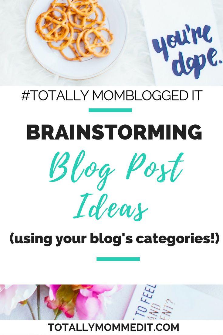 Need to #brainstorm some blog posts ideas? You only need to look as far as your blog categories! #braindump #writersblock #blogideas #bloggingtipsforbeginners #bloggingtips #wordpress