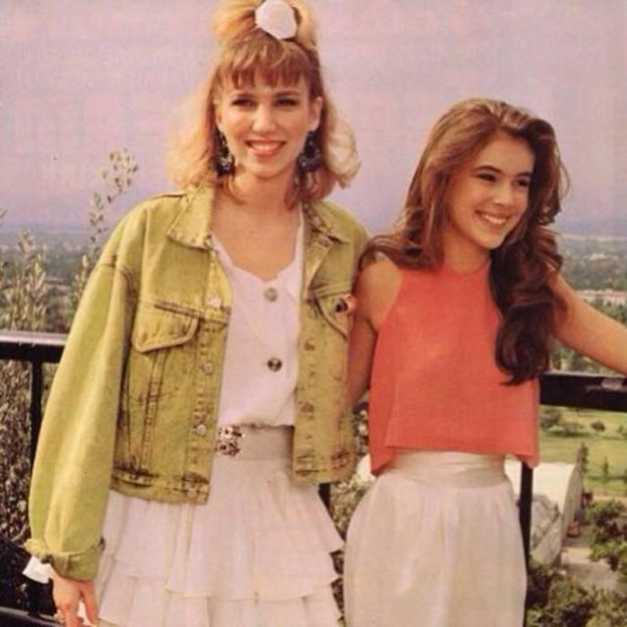Alyssa Milano & Debbie Gibson