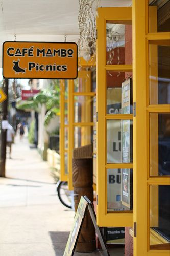 Cafe Mambo, Paia, Maui. Love going upcountry to do some shopping when I'm home.