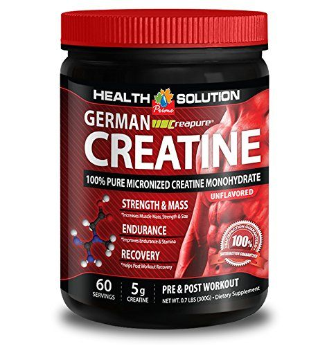 Creatine monohydrate capsules 5000mg - CREAPURE MONOHYDRATE GERMAN CREATINE 300 GRAMS 60 SERVINGS - lean body mass (1 Bottle) * Want additional info? Click on the image.