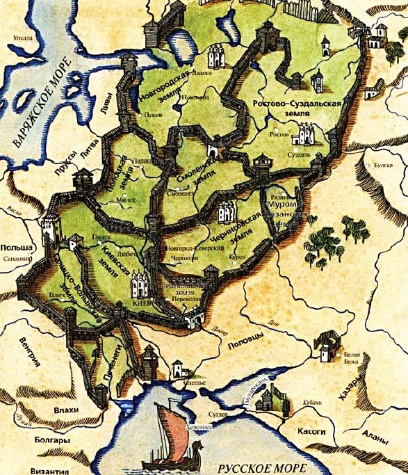 Maps Of Ancient Russia Slavic Tribes Of XI And XII Centuries - Maps r us