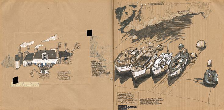URBAN SKETCHERS FRANCE: Une semaine sur l'île d'Ouessant 3/…2