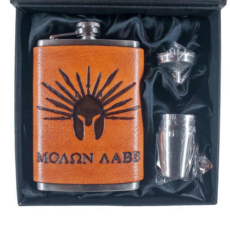 Sparta 300 Inspired Flask Set