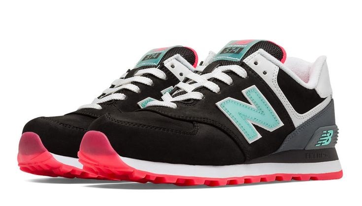 New Balance Women's 574 Glacial - Black with Grey & White