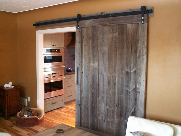 New Rustic style sliding barn wood door. www.loftdoors.com