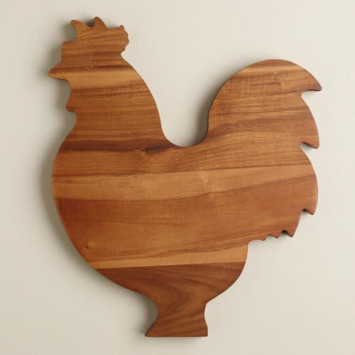 Crafted of acacia wood, our adorable Rooster Cutti…