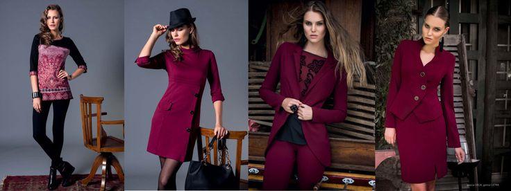 10 tendenze moda Autunno Inverno 2014/15: IL BORDEAUX Punto Blu Boutique - Tarquinia