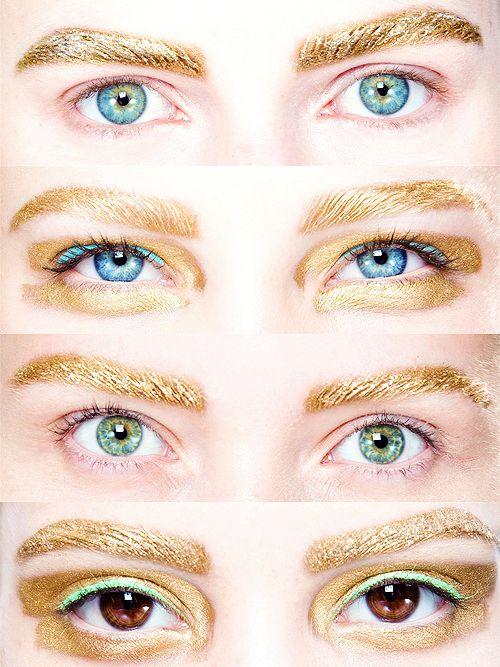 gilded eyes