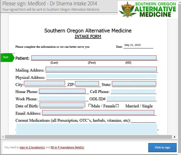 Oregon Medical Marijuana Application (OMMA) allows for the medical
