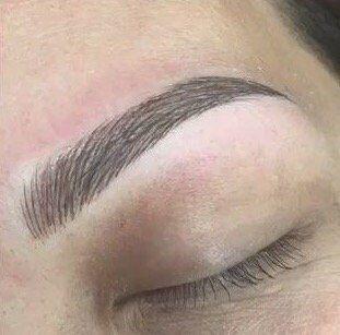 Microblading eyebrows  3D
